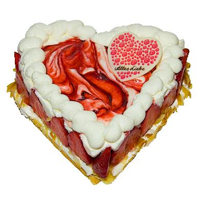 Joghurt Erdbeere Herz