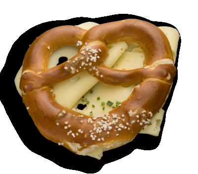 Snackbreze mit Käse
