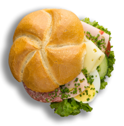 Kaisersemmel Wurst-Käse